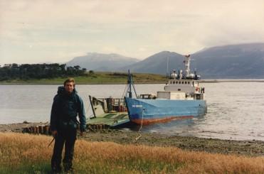 ©1997 Arriving at Isla Navarino, Chile